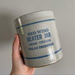 Red Wing Beater Jar Vintage Crock